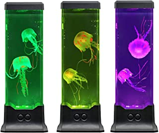 Electric Jellyfish Tank Table Lamp with Color Changing Light Gift for Kids Men Women Home Deco...