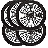 9' inc Paper Plate Holders Round Plastic in Black 5 pcs per Pack, Reusable,BudaysMart