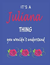 It's A  Juliana  Thing You Wouldn't Understand: Juliana  First Name Personalized Journal 8.5 x 11 Notebook, Wide Ruled (Lined) blank pages Funny  Cover for Girls and Women with Red White Text on Black