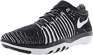 Nike Mujeres Free Transform Flyknit Bajos & Medios Cordon Zapatos para Correr, Black/White, Talla 6