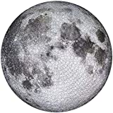 Moon Jigsaw Puzzle 1000 Pieces, Round Full Moon Surface Puzzle Gray Black Difficult and Challenge Large Jigsaw Puzzle Toys,Activities to Help Children Think About Parent-Child Interaction