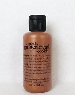 Philosophy Spiced Gingerbread Cookie Shampoo, Shower Gel & Bubble Bath 120ml 4oz