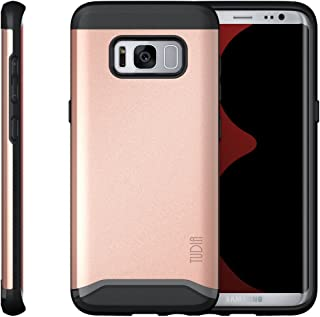 TUDIA Galaxy S8 Case, Slim-Fit Heavy Duty [Merge] Extreme Protection/Rugged but Slim Dual Layer Case for Samsung Galaxy S8 (2017 Release) (Rose Gold)