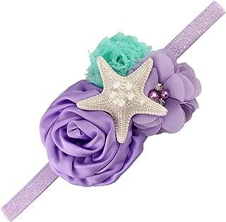 Aqua Lavender Glitter Starfish Mermaid Headband for Baby Birthday Gift