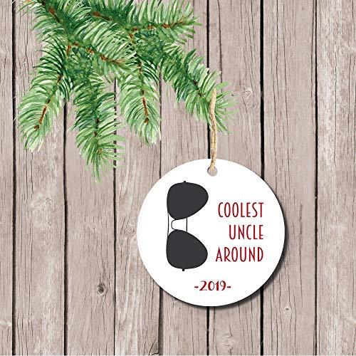 Dozili Kerstmis Ornament Gepersonaliseerde Kerstmis Ornament Cadeau Voor Oom Cadeau Voor Tante Cadeau Voor Godparent Zonnebrillen
