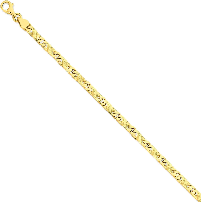 Bonyak Jewelry Omaha Mall 5.5mm Hand-Polished Fancy Sacramento Mall Ye Bracelet 14K in Link