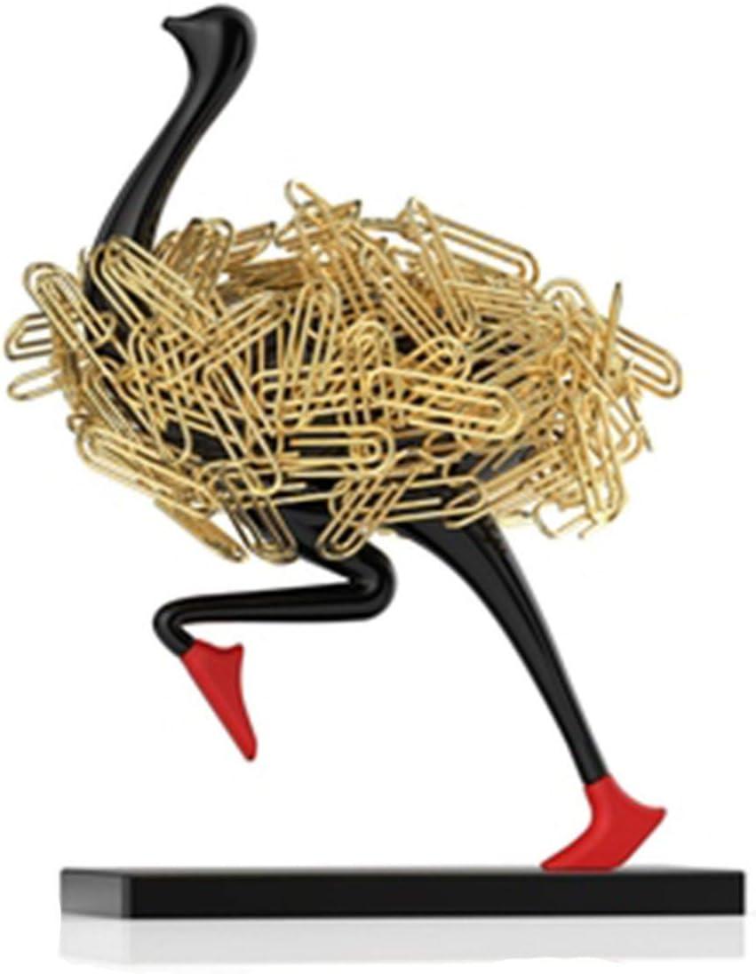 ZXCVB Magnetic Paper Clip Japan's largest assortment Silve Regular discount Running Holder Ostrich