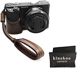 kinokoo Bottom Case for SONY A6400 A6100 Protective Cover Hand Grip Case  Sony Alpha 6100 ILCE-6100 Case  coffee-set