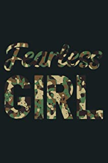 Fearless Girl Camo Motivation Camouflage Lover Premium: Notebook Planner - 6x9 inch Daily Planner Journal, To Do List Note...