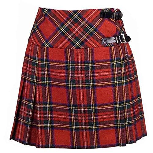 Schottenrock / Kilt / Minirock für Damen, mit Schottenmuster (Stewart-Clan), in den Größen 34-46 erhältlich Gr. 44, Tartanmuster