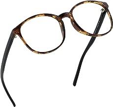 LifeArt Blue Light Blocking Glasses Women | Computer Reading Glasses Men | Round Frame Eyewear for Anti Eyestrain (Tortoise, No Magnification)