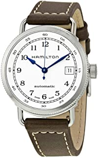 Hamilton Khaki Silver Dial Leather Strap Automatic Ladies Watch H78215553