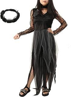 Halloween Zombie Bride Costume Ghost Corpse Bride Dress for Adult Women