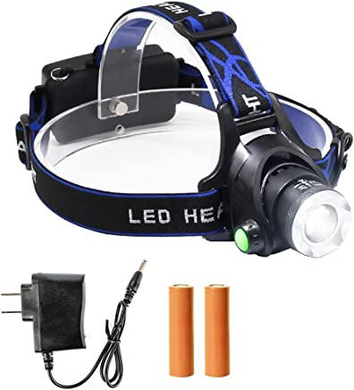 78dce9221508 GES Rechargeable Headlamp Flashlight