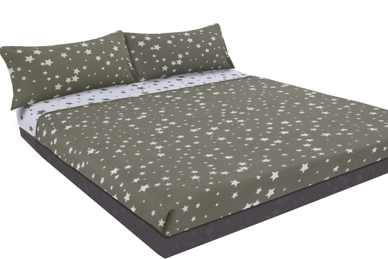 Montse Interiors Juego de sábanas Estampado (Stars, para Cama de 90x190/200): Amazon.es: Hogar