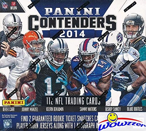 2014 Panini Contenders Football Factory Sealed SUPER Box with (3) AUTOGRAPH or MEMORABILIA & 112 Cards! Look for RC & Auto's of Jimmy Garoppolo, Odell Beckham Jr, Derek Carr & Many More! WOWZZER