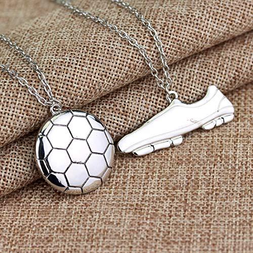 FUKAI Neue Einfache Fußballschuhe Schuhe Gliederkette Fußball Charme Anecklace Anhänger Silber Sportlichen Stil Jungen Kinder Geschenk Anhänger Halskette