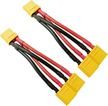 FLY RC 2pcs XT90 Plug Parallel Battery Connector Cable XT90 Connector Style Parallel Y-Harness for Quadcopters Multirotors...