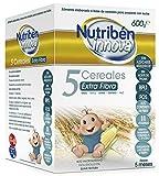 Nutribén Papillas Innova 5 Cereales, Extrafibra, 600g