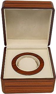 Lwieui Caja de Reloj PU de Cuero marrón de un Solo Color Relojes exhibición de la joyería Caja de Almacenamiento for el Re...