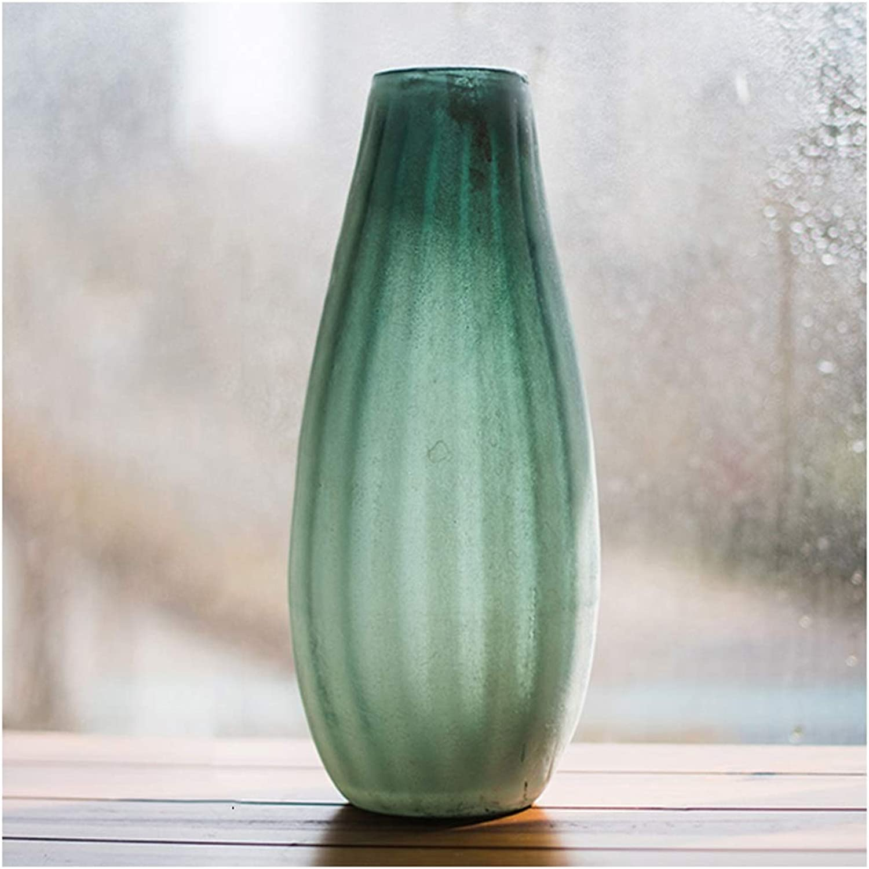 Vases LXF en Verre Art Minimaliste Moderne givré Fleur Creative Vintage Vintage FFaibleer (Taille   C)