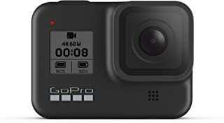 GoPro HERO8 Black - Waterproof Action Camera with Touch Screen 4K Ultra HD Video 12MP Photos 1080p Live Streaming Stabiliz...
