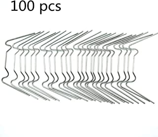PinnacleT1 Greenhouse Glazing Clip, 100 Pcs Stainless Steel W Type Clips Leaf Spring Clips Wire Fixing Clips for Greenhouse Glass House Twin-Hall Web Sheets