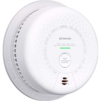 X-Sense 10-Year Battery (Not Hardwired) Combination Smoke and Carbon Monoxide Detector Alarm, Dual Sensor Smoke CO Alarm Complies with UL 217 & UL 2034 Standards, Auto-Check, SC03