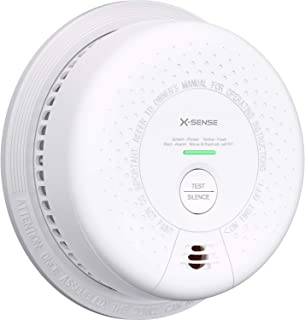 X-Sense Smoke Carbon Monoxide Detector Alarm, Compliant UL 217 & UL 2034 Standards, 10-Year Battery Operated with Silence Button & LED Indicator, SC03