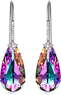 NINASUN Women Christmas Jewelry Gifts Neon Neon Hypoallergenic Earrings/Necklace Sterling Silver Fine Jewelry for Women Crystals from Swarovski Hypoallergenic Material with Gift Box