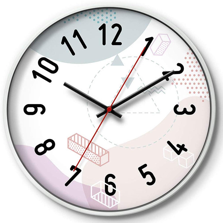 Entrega gratuita y rápida disponible. XIUXIU Personalidad Creativa Minimalista Moderno Reloj de de de Parojo Atmosférico Dormitorio Silencioso Oficina de la Escuela Salón Decoración Reloj de Parojo (Color   blancoo, Tamaño   30X30cm)  precio mas barato