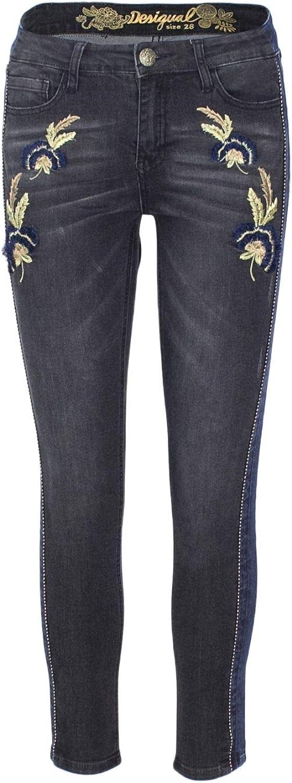 Desigual Women's 18WWDD49GREY Grey Cotton Jeans