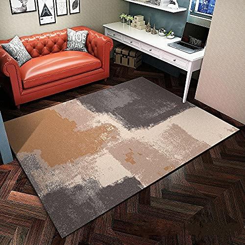 Kunsen alfombras Lisas alfombras para Comedor Alfombra de la Sala de Estar Rectangular Terciopelo de Cristal Duradero y Lavable a máquina Alfombra niña habitacion 50X80CM 1ft 7.7' X2ft 7.5'