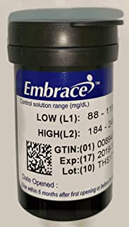 Embrace Blood Glucose Test Strips - 10 Count