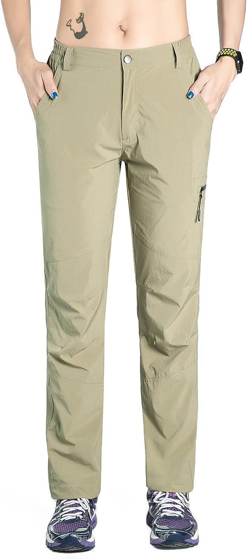 Nonwe Women's Quick Drying Lightweight Hiking Pants Drawstring Hem