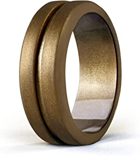 خاتم زفاف إيجنارو من السيليكون للرجال، خواتم مطاطية قابلة للتكديس تناسب السفر والعمل الرياضي - مقاس 8 9 10 11 12 13
