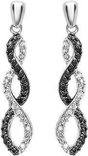 Best black and white diamond earrings Reviews