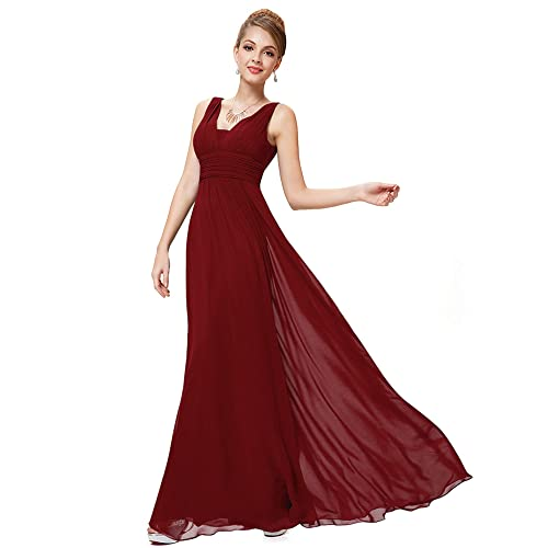 b9107ad960 Ever Pretty Women s Sleeveless V Neck A Line Empire Waist Chiffon Long  Evening Party Dresses 08110