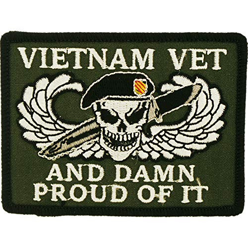 Ecusson thermocollant USA Military Vietnam Vet and Damn Proud of It