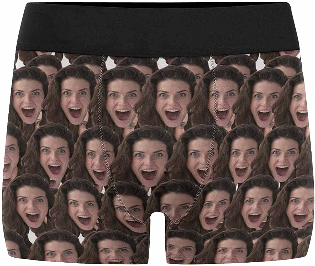 Custom Multi Face with Men's Underwear Personalized Your Photo Design on Boxer Briefs Customized Funny Shorts Gifts for Men