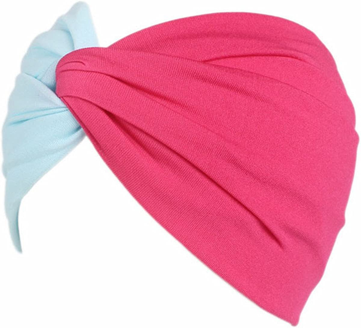 Qhome Twist Knot Headband Stretch Lycra Turban Ealstic Hair Band Headbands Two Bright Color Style