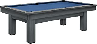 Olhausen Billiards 8 ft West End Pool Table – Matte Smoke Finish on Maple – Includes Delivery & Installation, Cues, Balls and Accessories – Choice of Cloth Colors – Modern Series