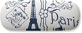 Eiffel Tower France Paris Line Drawing Gl Case Eyegl Hard Shell Storage Spectacle Box