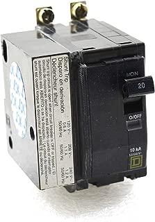 Square D QOB220-1021 Circuit Breaker 1/pkg 20A 240V 2P 10kAIC Shunt Trip Attached