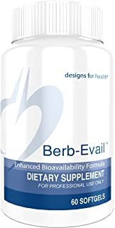 Designs for Health Berb-Evail - 400mg Berberine HCl for Blood Sugar Support (60 Softgels)