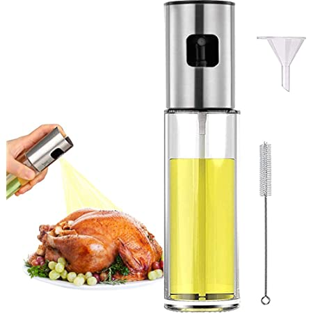 Oil Sprayer Mister for Cooking Olive Oil Spritzer for Air Fryer Vinegar Vegetable Oil Dispenser Portable Mini Kitchen Gadgets for Salad,Baking,Grilling,BBQ,Roasting