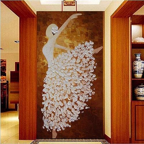 NIXI Stickers muraux Papier Peint Mural pour Salon Corridor Mural Ballet Fille Peinture Chambre Entrée Entrée Décoration Art Decal Mural,250  175cm,