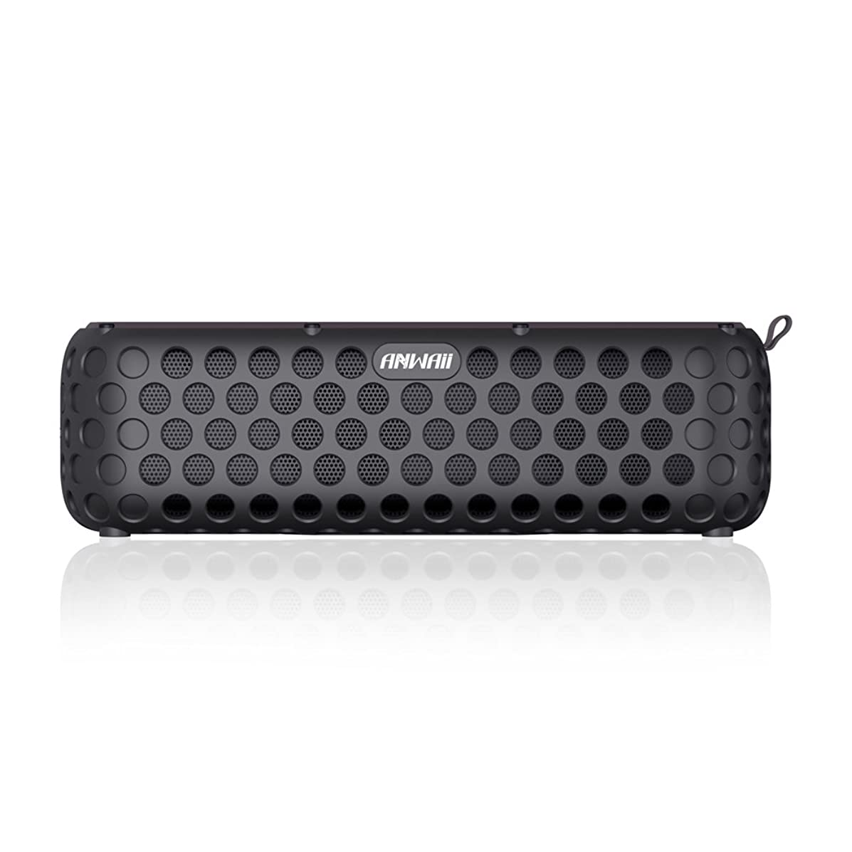 Multifunctional Rechargeable Bluetooth Speaker- Anwaii Wireless Splash Proof Speaker- Large Autonomy- Solar and USB Recharge- Portable and Practical- Ideal for Pool, Travel, Camping, Beach