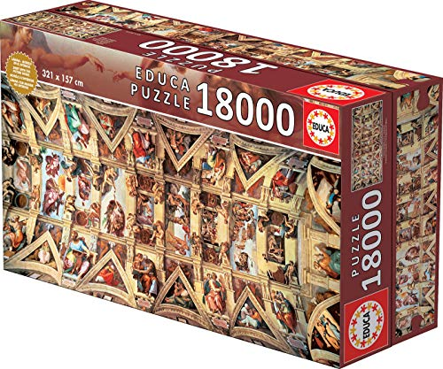 Educa Borras - XXL Puzzles, Puzzle 18.000 piezas, Capilla Sixtina (16065)
