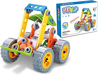 GGIENRUI Build and Play Toys Construction Engineering Learning Building Blocks for 5 Years Old and up Boys Girls Birthday 84pcs